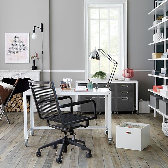 white modern office chair white rolling. Go-cart White Desk | CB2 48\ Modern Office Chair Rolling