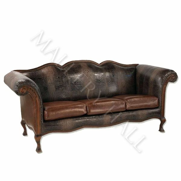 Outstanding Custom Made Sofa Outfitted With Dyed Alligator Leather And Ocoug Best Dining Table And Chair Ideas Images Ocougorg