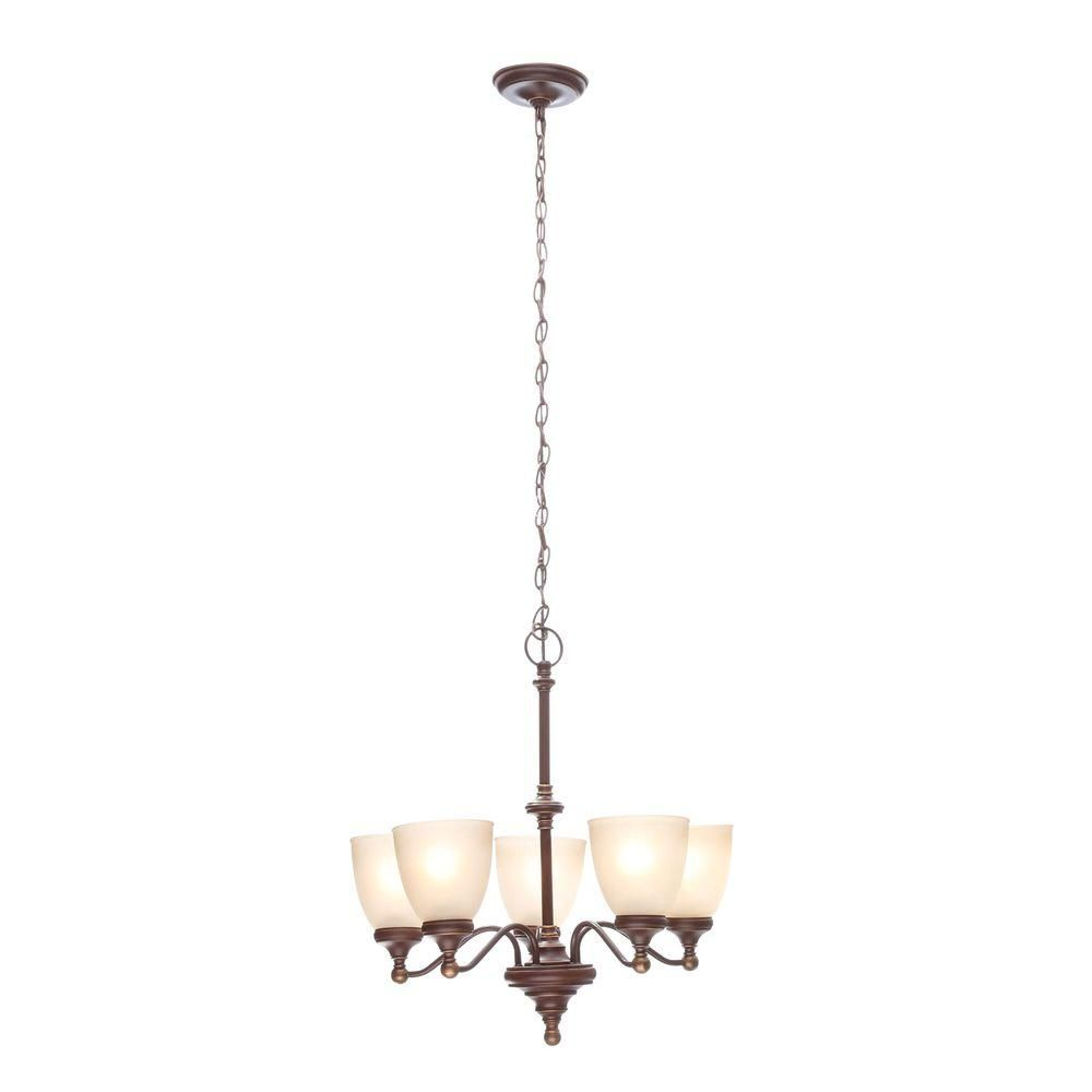 Hampton Bay Bristol 5-Light Nutmeg Bronze Chandelier | Bristol ...
