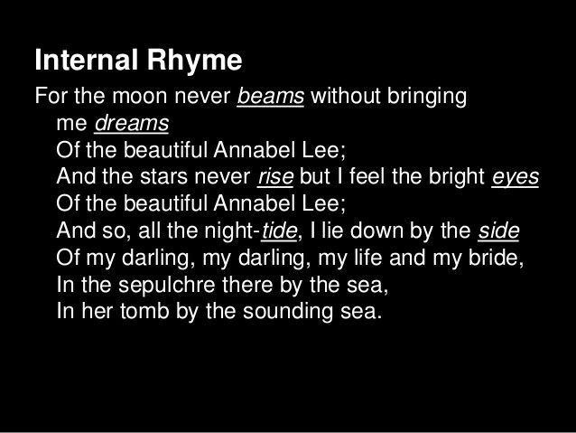 How to write an internal rhyme poem no homework given policy
