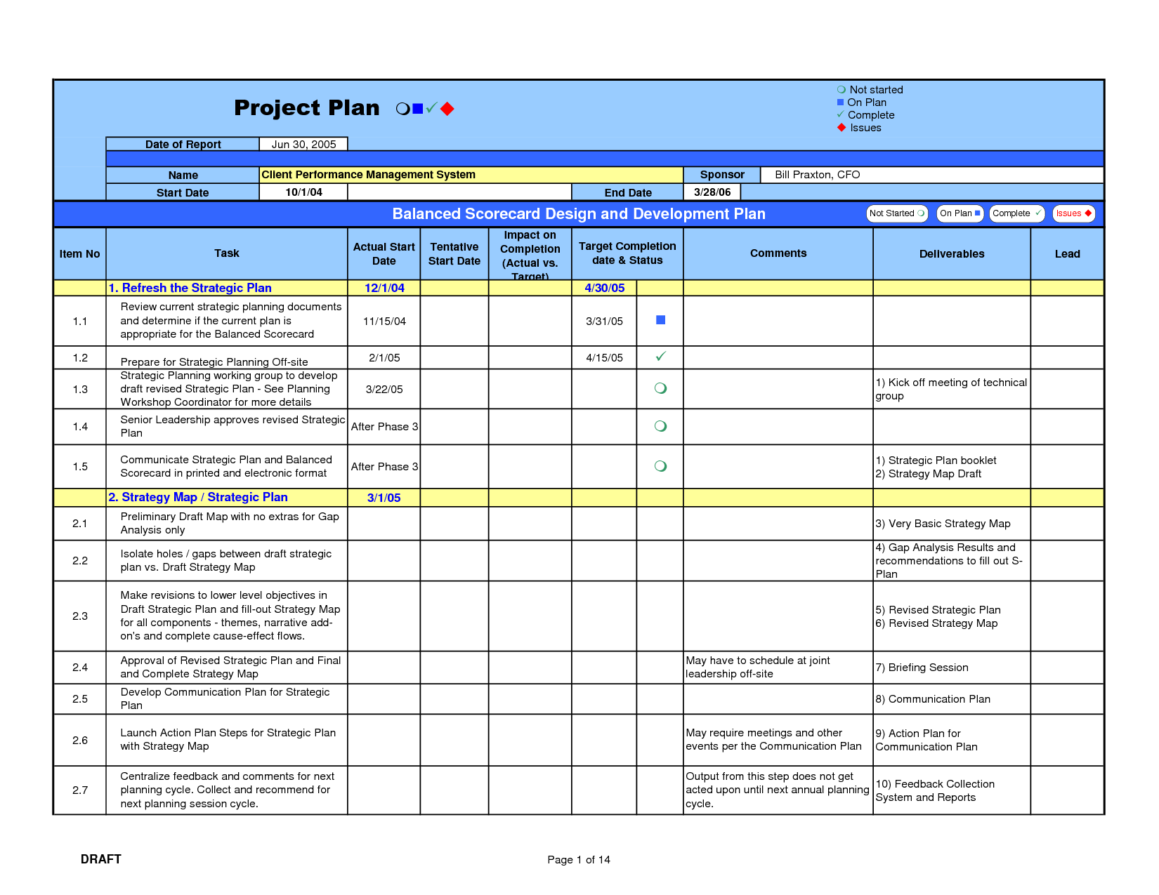 Software Development Plan Template. For project managers