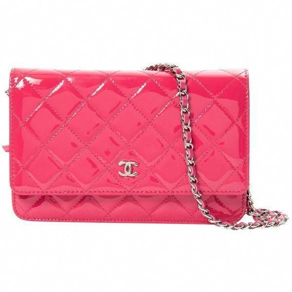 Pre-owned Chanel Wallet on Chain Patent Leather Clutch Bag ( 1,808) ❤ liked  on Polyvore featuring bags, handbags, clutches, pink, women bags clutch bags,  ... 0335361013