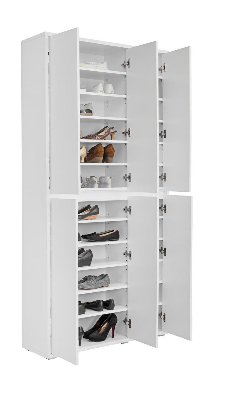 Schuhschrank In Weiss 6 Turig Online Entdecken In 2021 Schuhschrank Xora Schuhschrank Badezimmer Ideen Grau