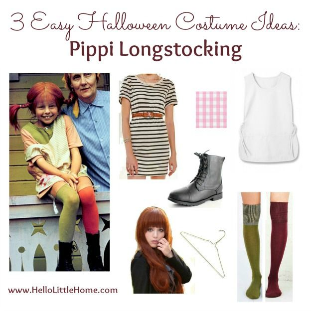 3 Easy Halloween Costume Ideas Pippi Longstocking Hello Little - halloween ideas for 3
