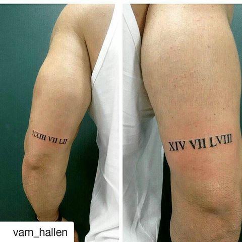 Tattoo On Chest Roman Numbers Numeros Romanos Tatuagens