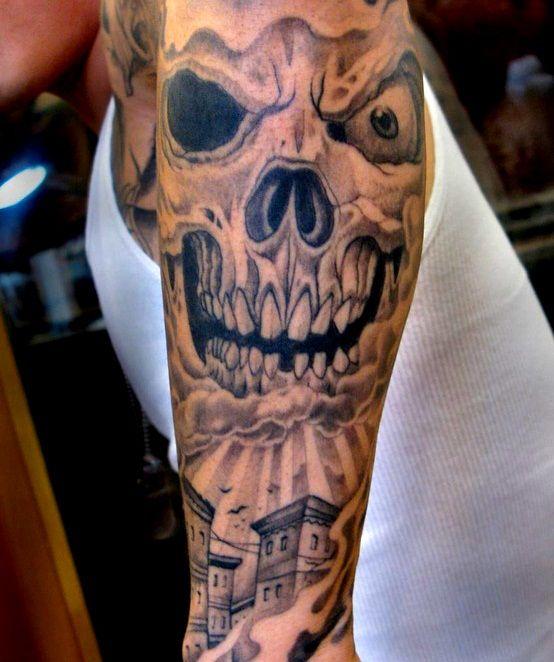 Skull Sleeve Tattoos Designs - valoblogi.com
