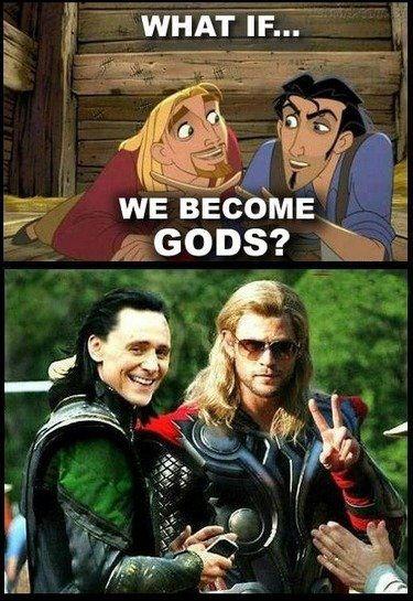 Funny Thor Loki El Dorado Funny Pictures Disney Memes Funny Memes