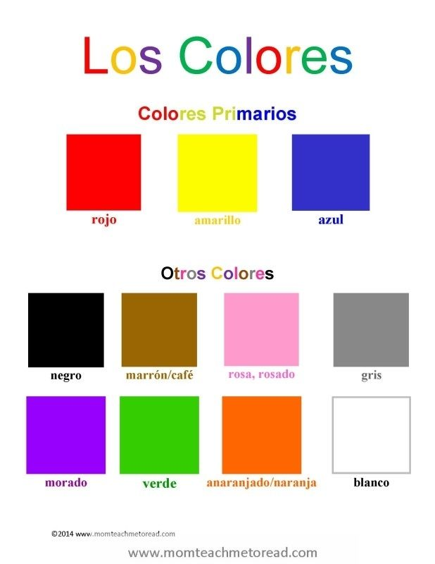 Spanish for Kids Los Colores (FREE Printable!) Free