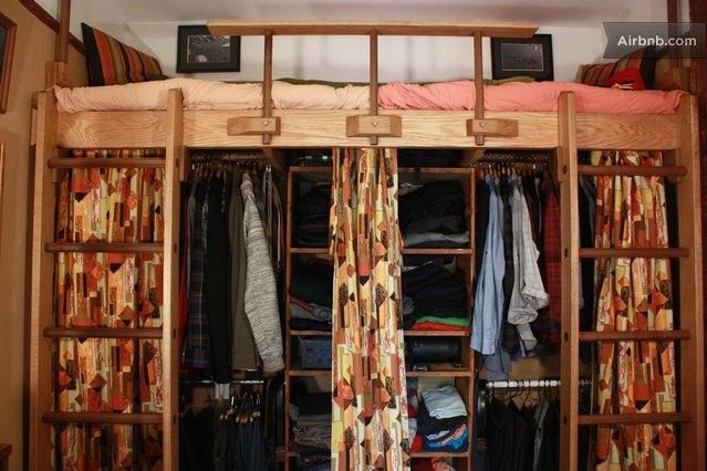 Closet Under Loft Bed Aginn Place Apt Bedroom In 2019