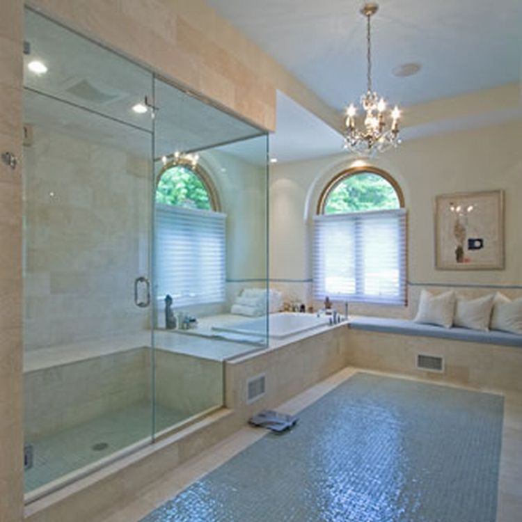 fabulous ideas of glass tile bathroom floor