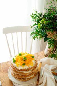 Meringue taart met hazelnoten, mango en citroen | Elien's Cuisine - Lekkere en gemakkelijke recepten