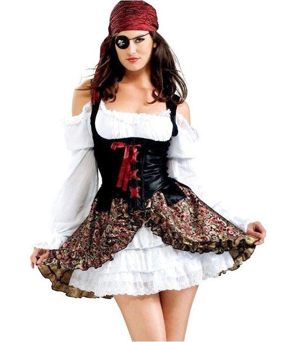 Resultado de imagen para disfraces de pirata mujer para - Maquillaje pirata nina ...