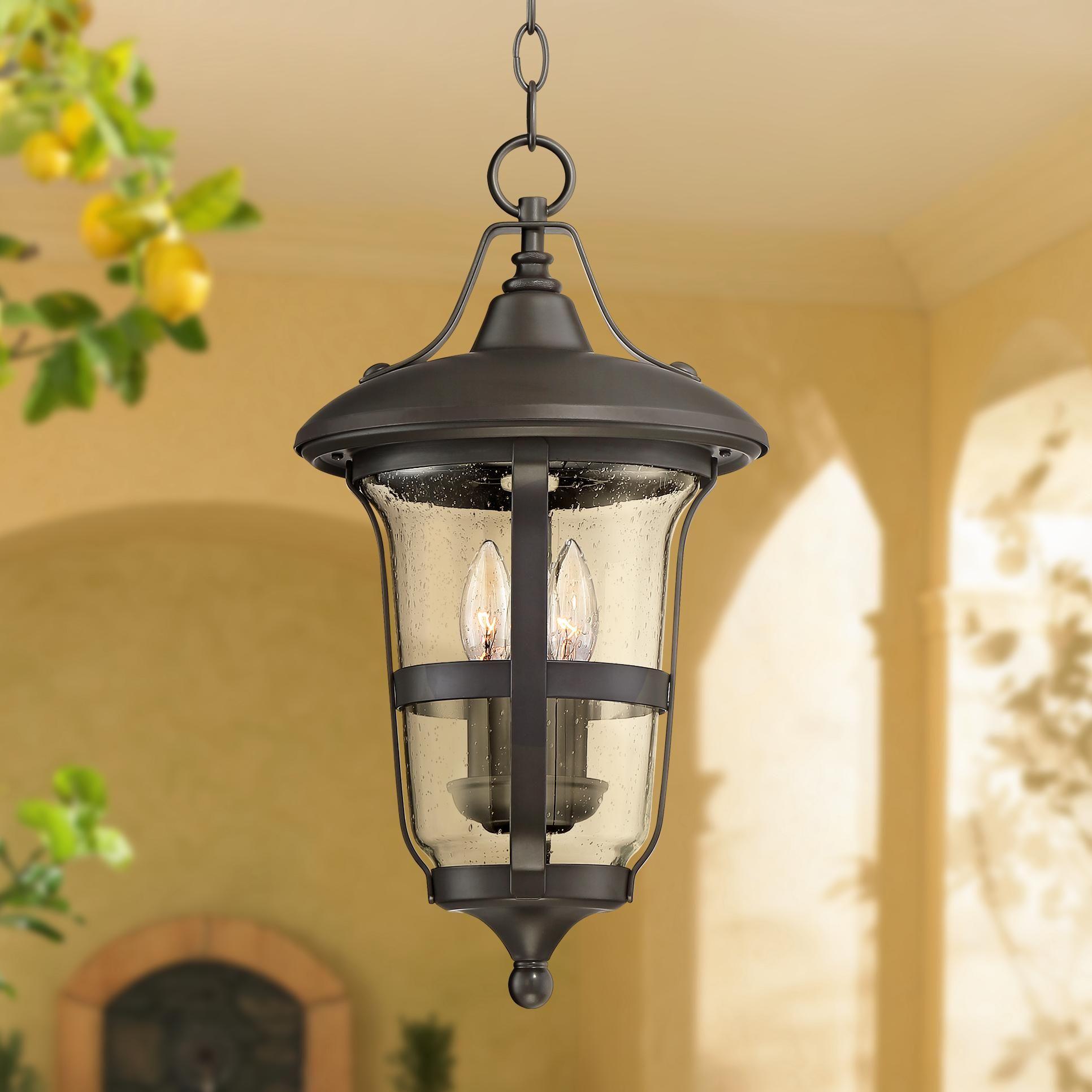 Outdoor Lightingdesign Ideas: Birmingham 19 Inch High Bronze 3 Light Outdoor Hanging