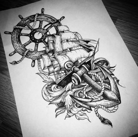 46 Ideas Tattoo Leg Old School Anchors