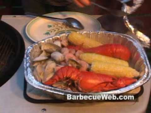 Lobster, Clam, Shrimp on the Grill by the BBQ Pit Boys