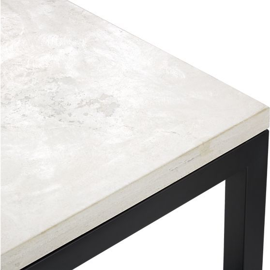Lovely Parsons Rectangular Coffee Table With Travertine Top   Crate And Barrel