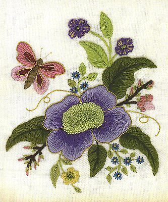Elizabethan Tile 2 A Crewel Embroidery Kit For Beginners View