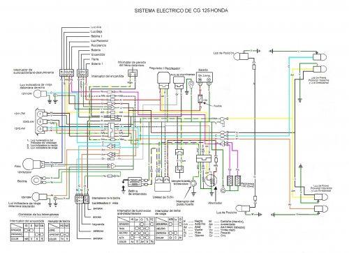 Diagrama Electrico De Una Motocicleta Honda Cg 125 Mecanica De Motos Sistema Electrico Diagrama De Instalacion Electrica