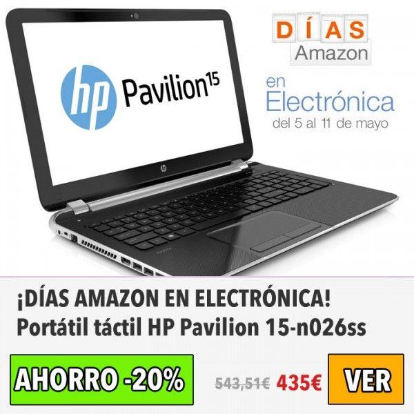 Portátil táctil HP Pavilion 15-n026ss. #ofertas #descuentos