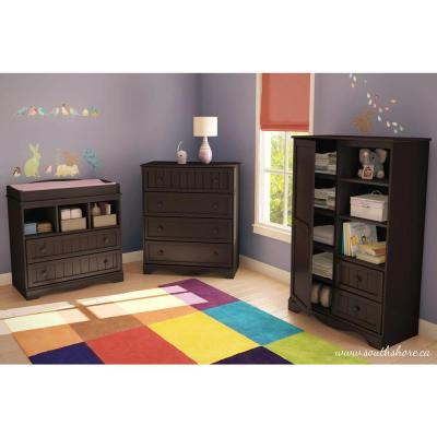 South Shore Savannah Espresso Armoire, Brown | Baby ...