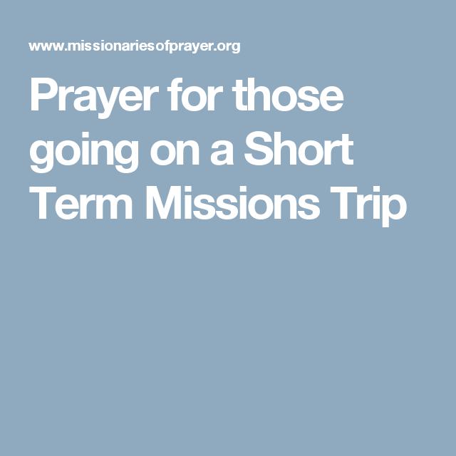 adult short term mission trip
