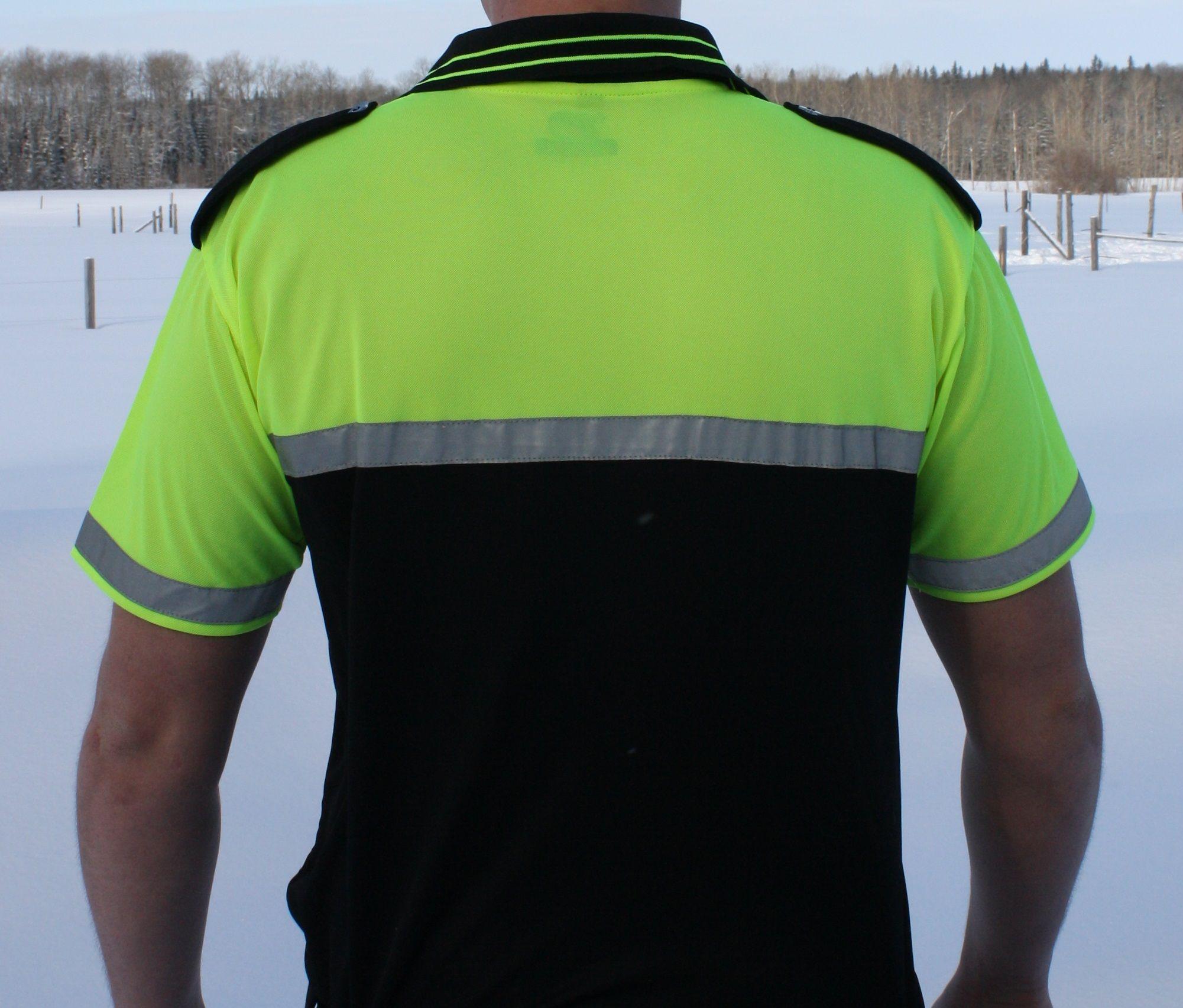 Hi Vis Moisture Wicking Polo Shirt Dutyapparel Safety