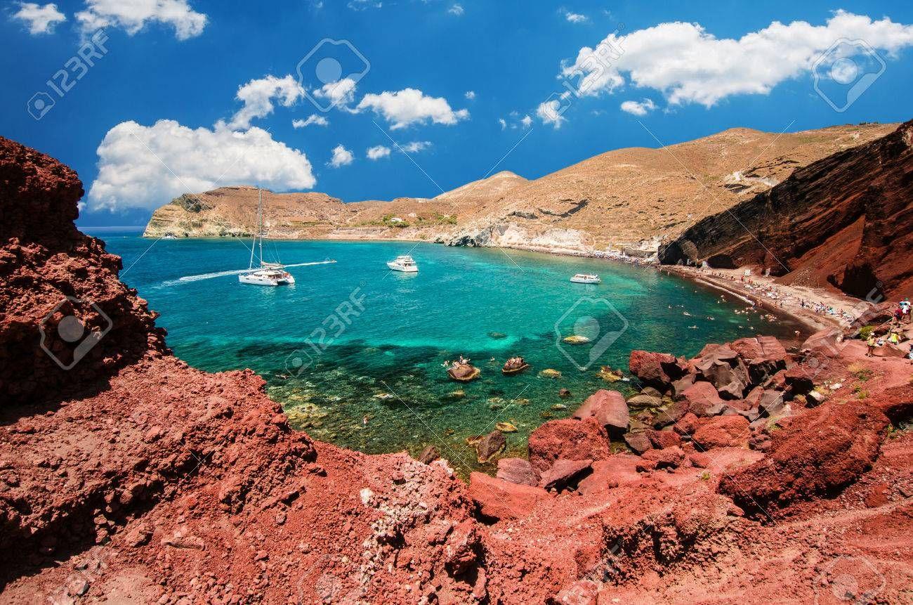Red Beach Santorini Cycladic Islands
