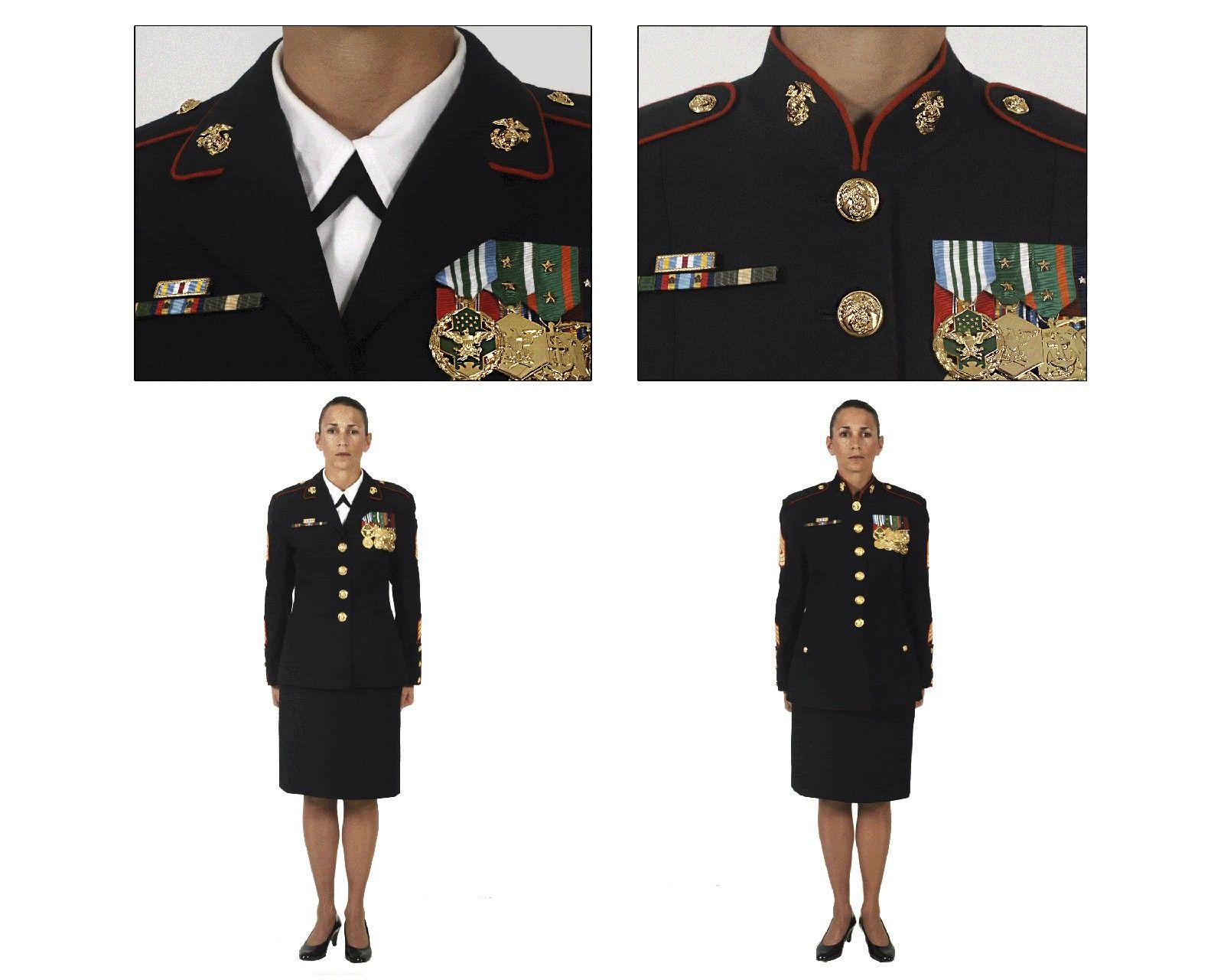GENUINE U.S MARINE CORPS SERVICE COLLAR DEVICE OFFICER