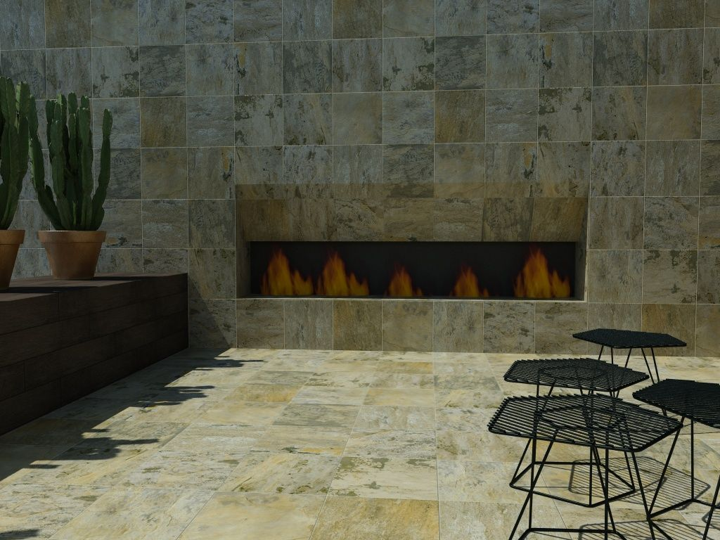 Interceramic slate supremo hd ceramic stone look for Azulejos terrazas patios