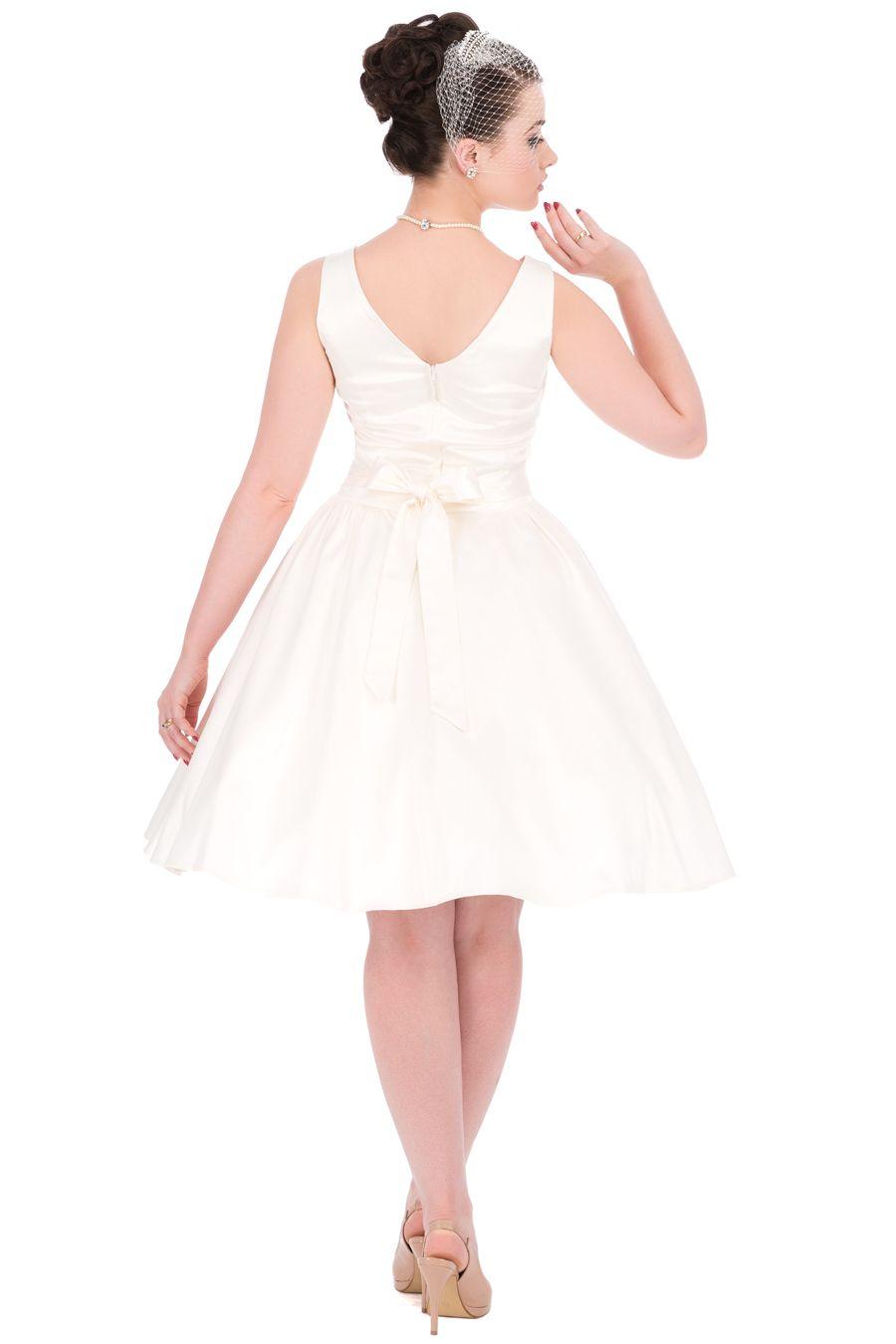 1950s Style Ivory Wedding Tea Dress : Lady Vintage