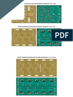 Placas Power Driver & Power Transistor Crown in 2019 Diy