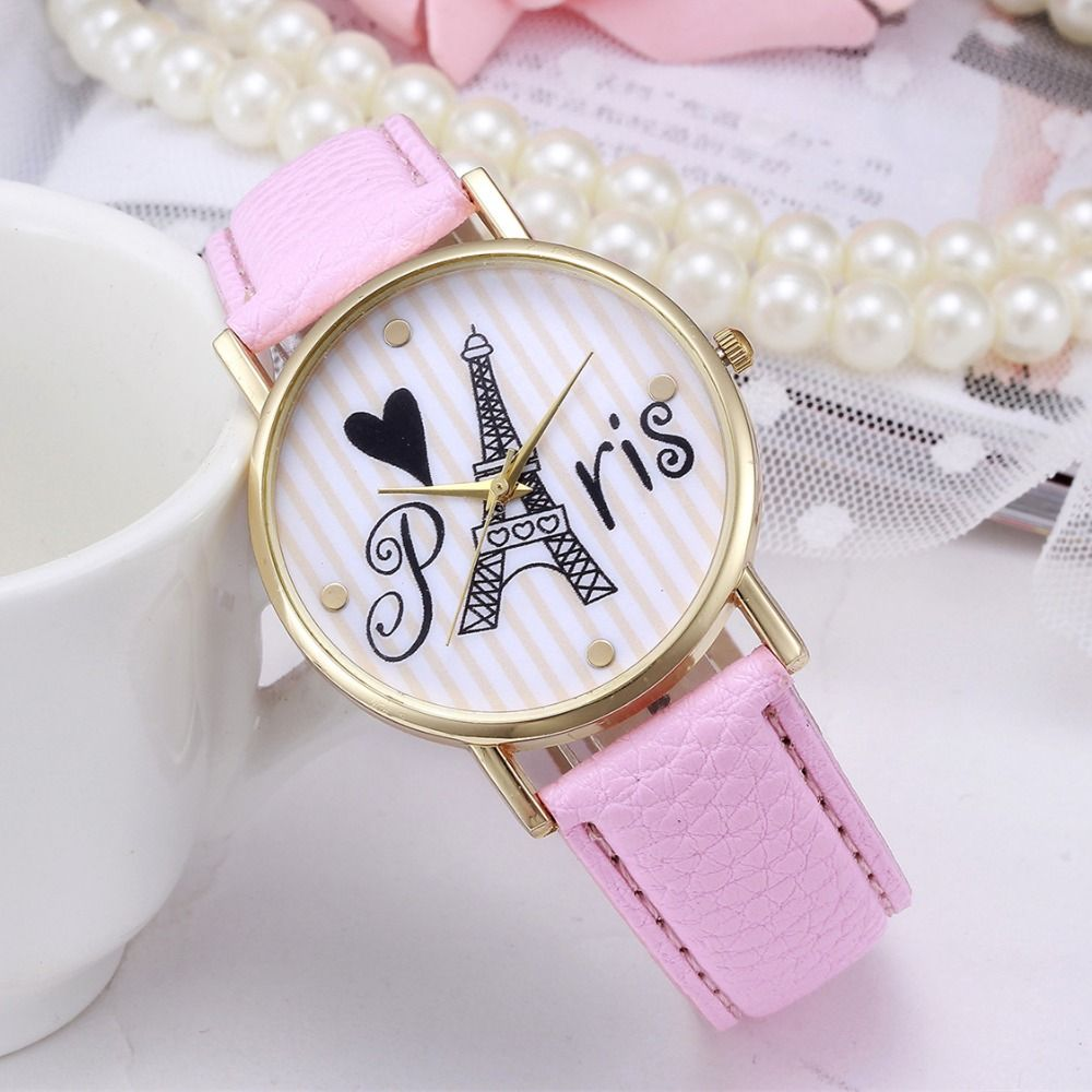 8381f252cdc Hot Newes Fashion Love In Paris Leather Watches Hot Woman Dress Watches  Girls Quartz Tower Zebra