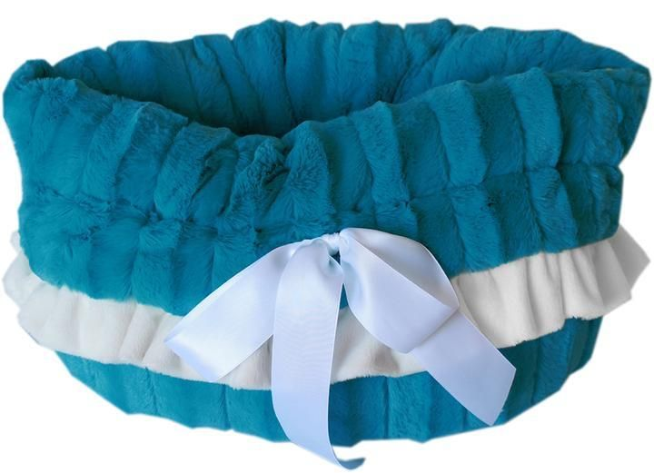 Photo of Aqua Reversible Snuggle Bugs Pet Bed, Bag, and Car Seat All-in-One
