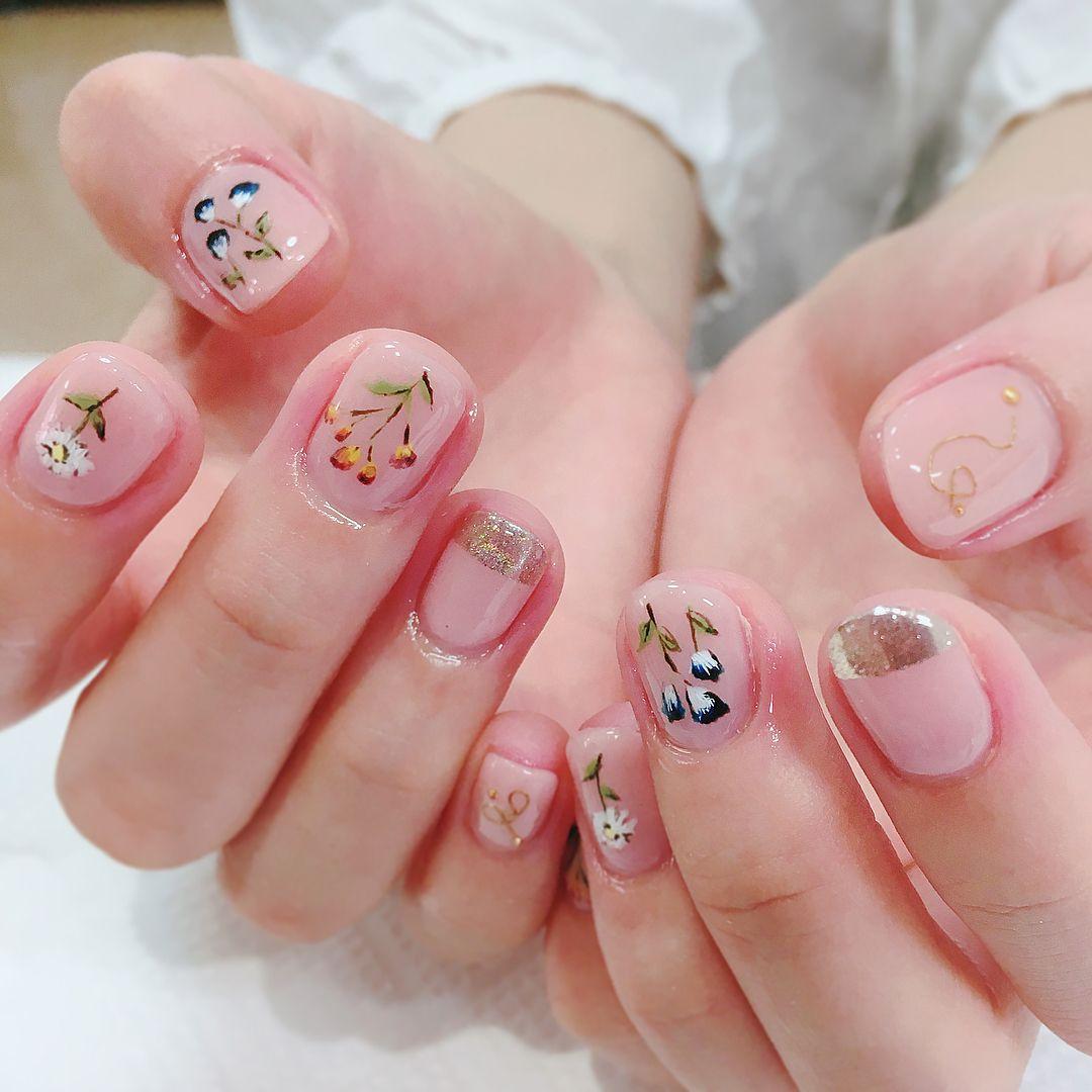 Love iy | Trendy nails, Purple nail art, Fashion nails