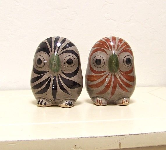 Vintage Mexican Tonala owls.