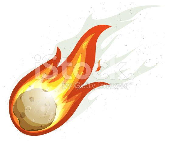 Vector Illustration Of A Comic Comet Fire Falling With Blazing Vector Art Free Vector Art Vector Illustration