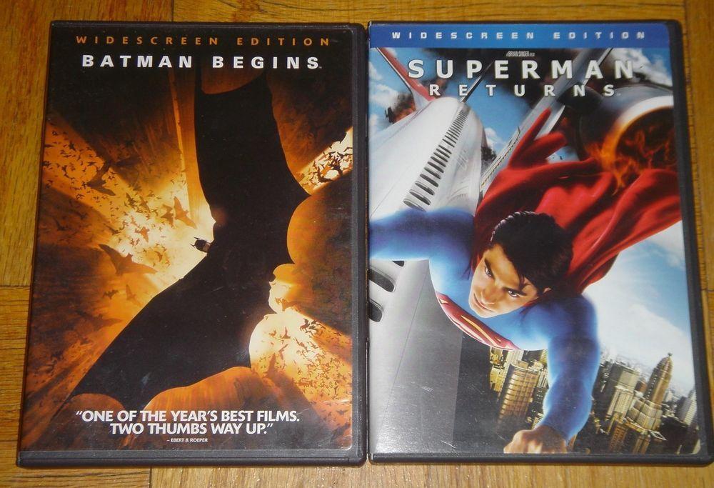 Batman Begins Superman Returns Warner Brothers Set Of 2 DVD Widescreen Edition