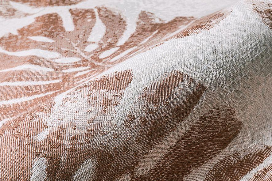 Palm Leaves 04 Chic Salmon Aldeco Interiorfabrics Interiordesign Luxuryhome Luxuryfabrics Fabrics Lifestyle Fabric Decor Interior Fabric Luxury Fabrics