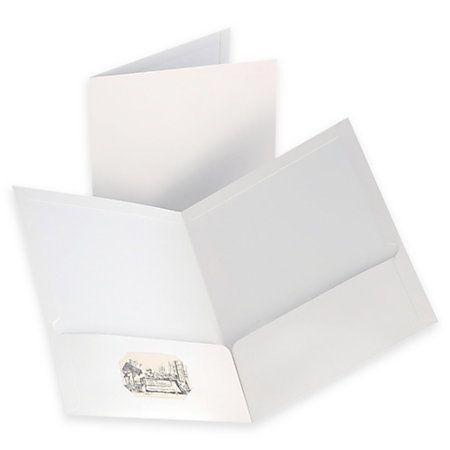 1999 OxfordTM Laminated Twin Pocket Portfolios 8 1 2 X 11 White Pack Of 10