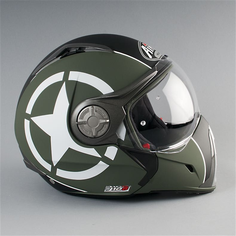 Casque Moto Airoh J 106 P J Shot Vert Moto Motorcycle Helmets