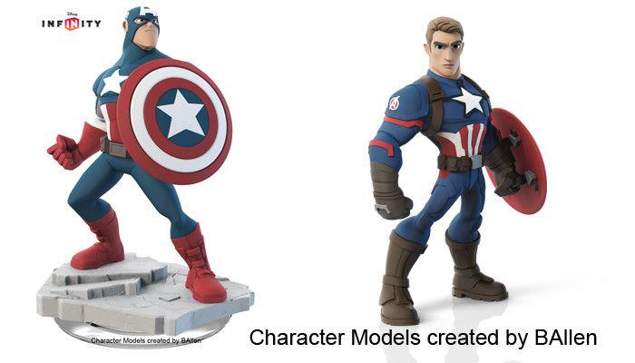 Captain America Side by Side: Disney Infinity, B Allen on ArtStation at https://www.artstation.com/artwork/aaqd2