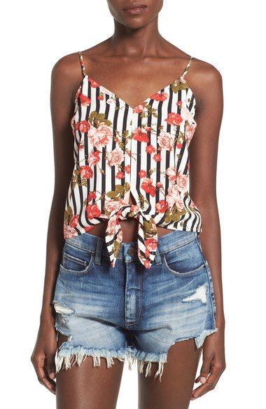 Leith Tie Front Camisole available at #Nordstrom