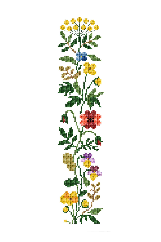 Jardín inglés, diagrama de bordado gratis para descargar de DMC ...