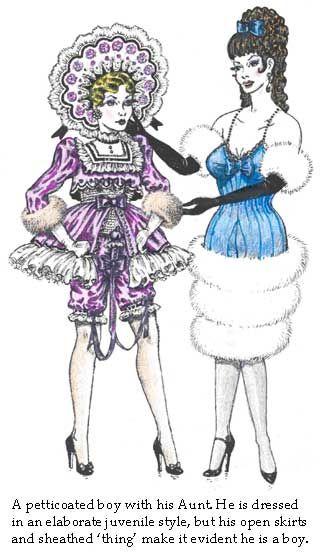 Petticoat discipline dildo