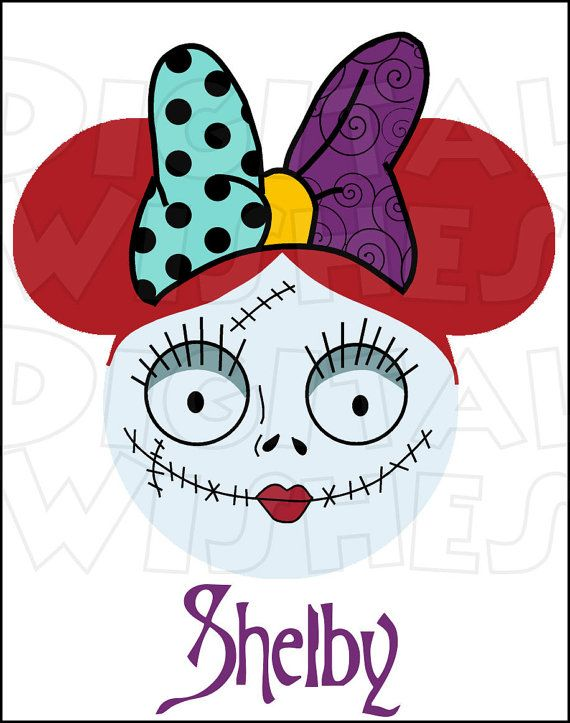 sally from nightmare before christmas mickey minnie mouse head ears rh pinterest com nightmare before christmas characters clipart nightmare before christmas zero clipart