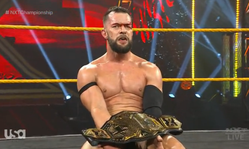 Bloodied Finn Balor Retained The Wwe Nxt Championship At New Year S Evil Wrestling News In 2021 Finn Balor Wwe Champions Wrestling News