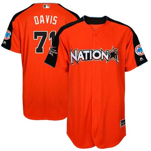 cubs 71 wade davis orange 2017 all star national league stitched mlb jersey