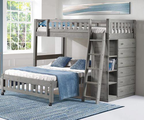 Buy Discovery World Kids Westport Gray Twin Over Full Loft Bunk
