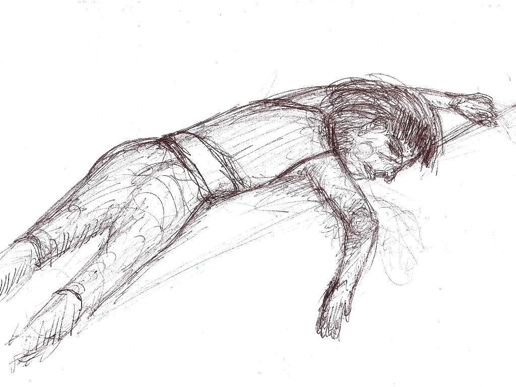 Dibujo De Nino Dormido Art Humanoid Sketch