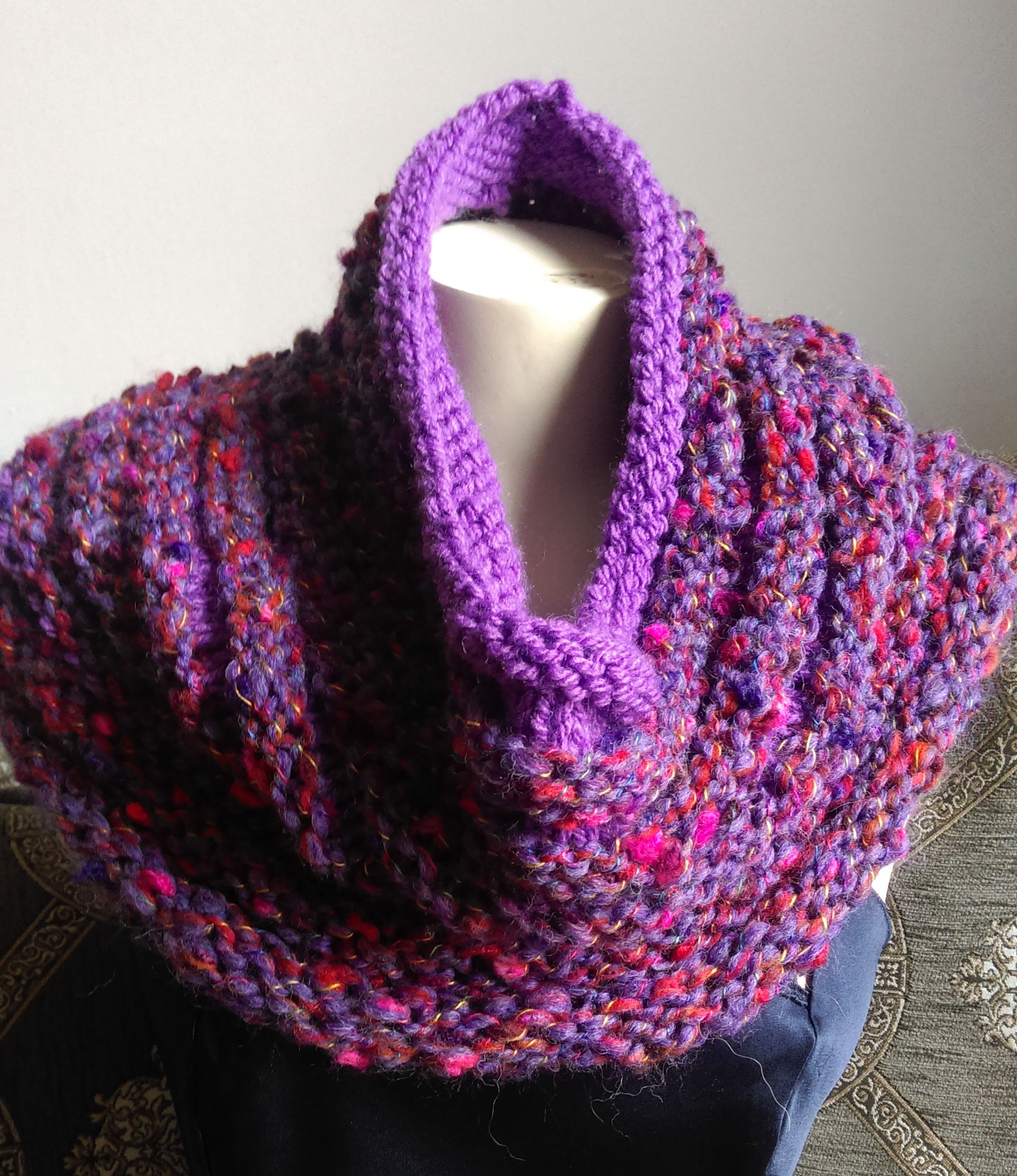 Cowl You will need three 50g skeins of Adriafil Alchimia (A) and ...